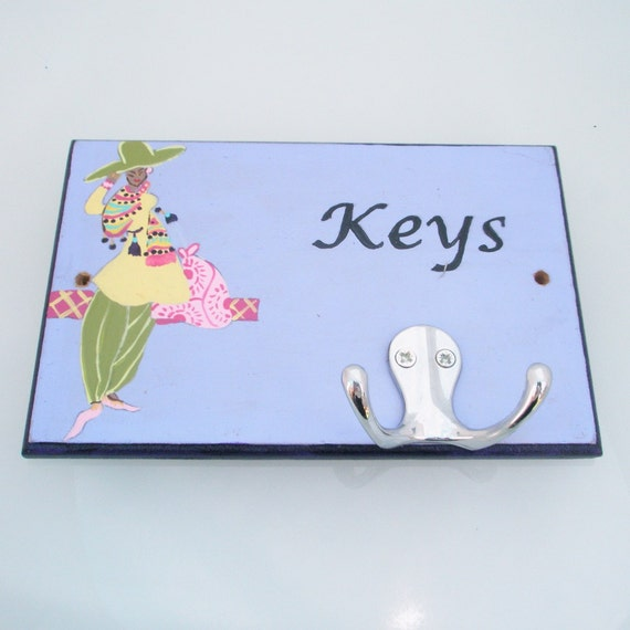 Hand Painted Wall Key Holder Home Decor Key Holder By Galleros