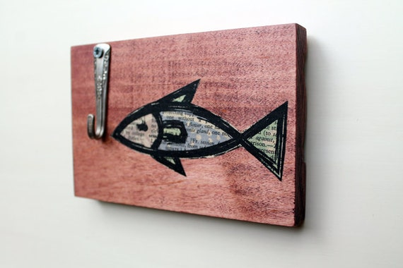 Unavailable listing on etsy for Wooden fish wall decor