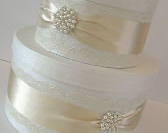 Lace Wedding Card Box - Couture Card Holder Custom Made