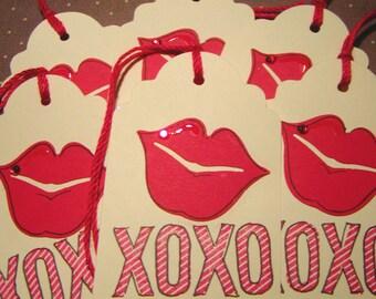 XOXO- Hot Stuff- Kisses - Valentine Tags (8)