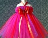 Valentine Tutu- Baby Tutu- Tutu Dress- Newborn Tutu- Tutu Halter Dress- Photography Prop- Flower Girl Dress- Available In Size 0-24 Months