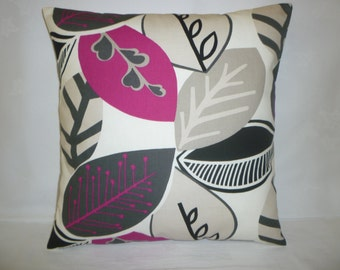 "Pink Pillow Fuschia Designer Cushion Cover Throw Scatter Pillow. ONE x 16"" (40cm)"