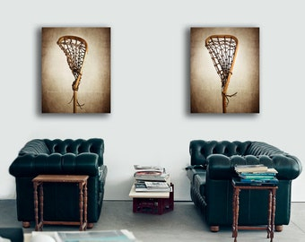 Set of two Vintage Lacrosse Sticks  PHOTO prints , Decorating Ideas, Wall Decor, Wall Art,  Sports Decor, Vintage LAX,  Lacrosse Art