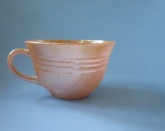 vintage Fire King copper tint 3 bands coffee or tea cup