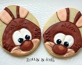 Easter, Easter Cookie Favors, Bunny Cookies, Easter Cookies, Rabbit Cookies - 1 Dozen