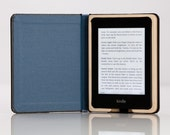 The Mini Keeper Case for Kindle Paperwhite - Onyx Black with Camden Blue Interior