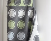 Baby to Toddler HOODED TOWEL - Bath Beach Pool - Pastel Bubbles Gray Polka Dot - ABShoppe