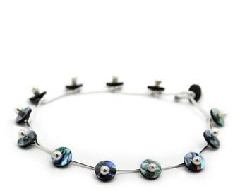 Glint Paua and Sterling Silver Bracelet