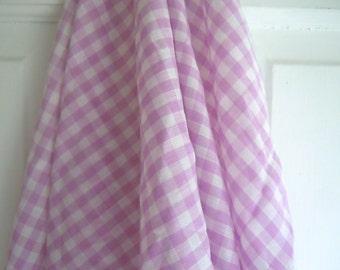 Purple Gingham Vintage Fabric Remnant