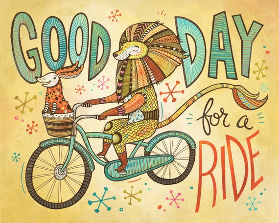 Good Day for a Ride print - available in Anni Betts Illustration Etsy store