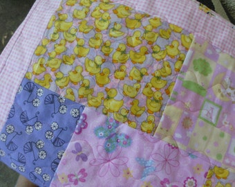 Flannel baby girl quilt
