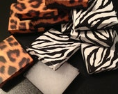 Set of 10 Animal Print Gift Boxes Leopard & Zebra Jewelry Ring Bead Boxes Graphic Fashion Box Keepsake Cotton Lining