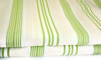 Tanya Whelan Darla Ticking Stripe Fabric, Green White Ticking Stripe Fabric, Grand Revival Westminster Fabric