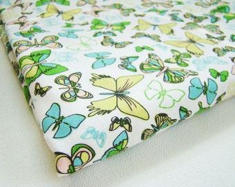 Butterfly Fabric, Sweet Tea Fabric, Anthology Fabrics, Spring Garden Fabric, Green Pink