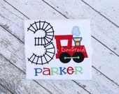 Train Birthday Shirt/One Piece Red - Personalized
