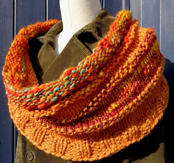 Orange Grove Handknit Cowl Shrug Original BGP Design