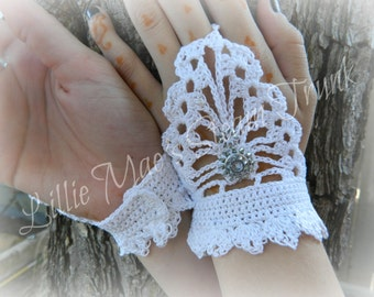 Steampunk Crochet Fingerless Gloves Pattern