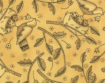 Round Robin - Robin's Nest in Goldenrod Yellow by Kathy Schmitz for Moda Fabrics