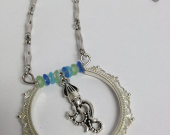 Upcycled Recycled Squid  Necklace