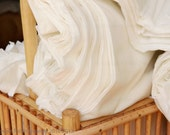 Cotton fabric. 44 inches wide. Organic Cotton Fabric Yardage - Soy Milk. Angels Breath Cotton.