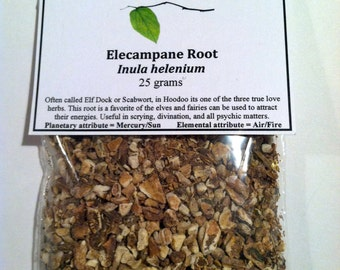 Elecampane Root (Inula helenium) - Hoodoo love herb, protection, divination, tarot, Celtic Elfwort and useful for fairy workings