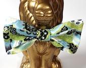Green Paisley Cotton Bow Tie