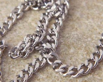 Stainless Steel 4.5mm Curb Chain
