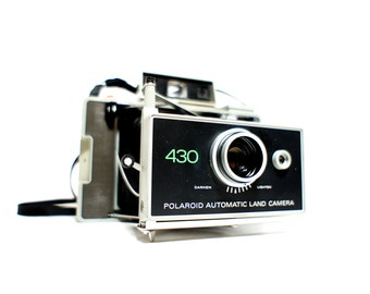 Modified 430 Polaroid Land Camera w/ Manual - Film Tested Working
