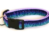 Glitter Dog Collar - Purple and Blue - Made to Order