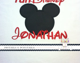 Adult Disney Marathon custom embroidered shirt