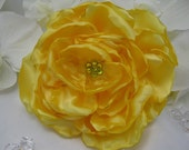 Satin Dog Collar Flower - Any Size - Yellow Satin