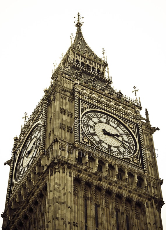 Big Ben, London, England 8x10 Print- Travel Photography