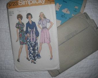 Vintage Simplicity 9723 Women's Dress Pattern - Uncut
