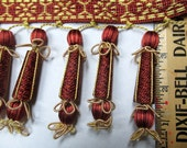 Victorian Style tassel fringe red and gold