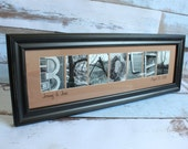 Any Size Custom Name Frame - Alphabet Letter Photography - Choose Your Frame, Matting and Photos - Personalized Wedding Gift