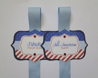 Memorial Day Labels, Memorial Day Party Decor, Memorial Day Candy Buffet, Memorial Day Food Labels, Fourth of July Party, Red White and Blue