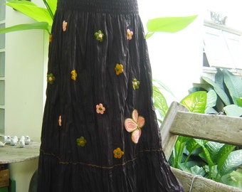 Nothing to Worry About Long Skirt III - Choc Brown