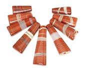 Amazing 9 pieces Red River Jasper Graduation Fan Shaped Pendant Bead Set J46B5508