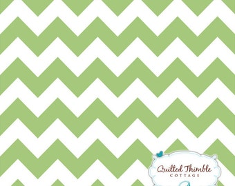 Chevrons by Riley Blake Designs - Medium Green (C320-30) - 1 yard