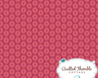 End OF BOLT - - Oval Elements by Art Gallery Fabrics - Cranberry (OE-913) - 1 Yard