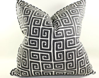 Robert Allen Neo Keys in Storm Pillow Cover, Cushion Cover, Decorative Pillow