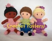 "Amigurumi Ballerina and Boy Doll PDF Crochet Pattern INSTANT DOWNLOAD ""Teacup Cuties"""