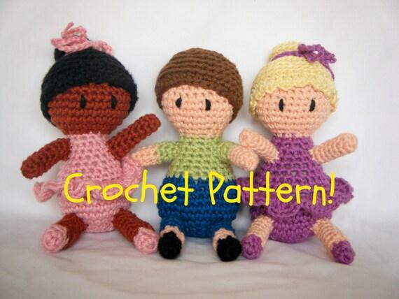 Amigurumi Boy Doll Pattern : Amigurumi Ballerina and Boy Doll PDF Crochet Pattern INSTANT