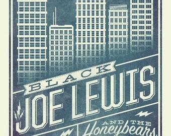 Black Joe Lewis screen printed poster