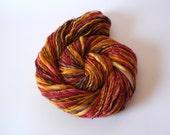 Handspun Superwash Merino Yarn Hand Dyed -Sahara Sunset 116 yards Worsted Weight