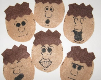 "Play Therapy ""Expressions"" Felt Character Set 1"