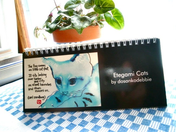 Etegami Cats Desk Calendar (reserved for DorDee)