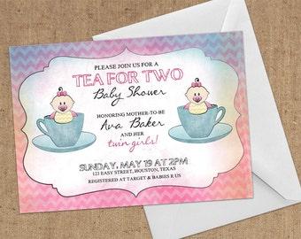 Invitations - Tea For Two - DIY Printable