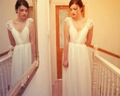 Silk, Lace, Satin and Chiffon Romantic Wedding dress By UK designer Katherine Kerrison Custom made beach wedding - katherinelkerrison