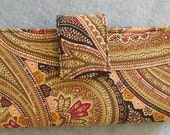 Fabric Wallet - Tan Paisley